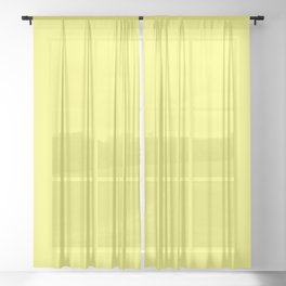 Sunshine YELLOW Sheer Curtain
