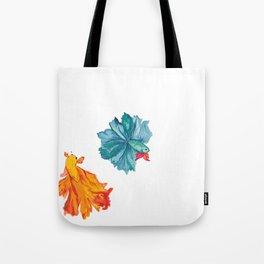Siamese Fighter/Lover Fish Tote Bag