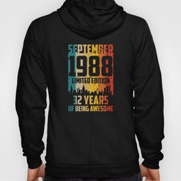september 1988 Limited Edition 33 Years Hoody