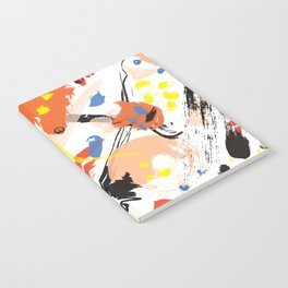 Abstract Floral Splash Notebook