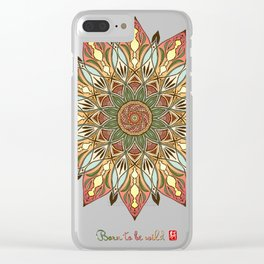 Mandala - Born to be Wild Clear iPhone Case