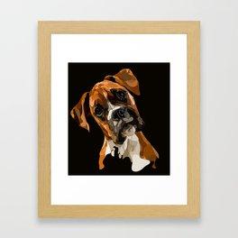 Biff the Boxer Framed Art Print