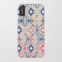 damask iPhone & iPod Cases featuring Tropical Ikat Damask by micklyn