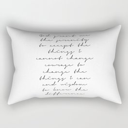 The Serenity Prayer Script Rectangular Pillow