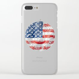 Speeding on Route 66 Clear iPhone Case