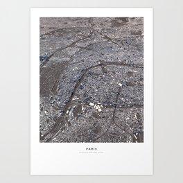 Paris II - city map Art Print