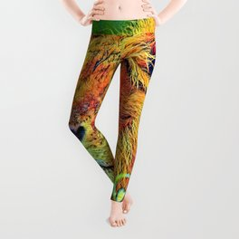 AnimalColor_Lion_005_by_JAMColors Leggings