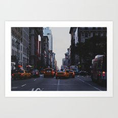 New York Traffic Art Print