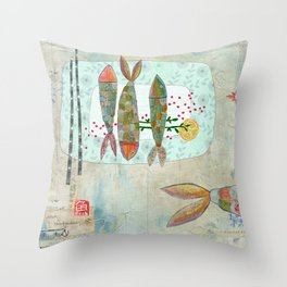 Fishy Feast Throw Pillow