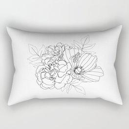 Floral Arrangment Rectangular Pillow