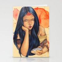 pocahontas Stationery Cards featuring Pocahontas by Bárbara  Kramer