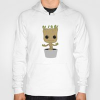groot Hoodies featuring Little Groot by Pete