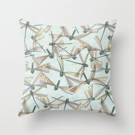 watercolor dragonflies Throw Pillow