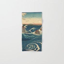 Vintage poster - Japanese Wave Hand & Bath Towel
