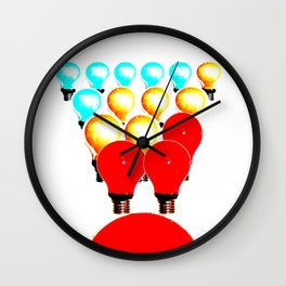 THE MARCH OF THE LIGHTBULBS Wall Clock