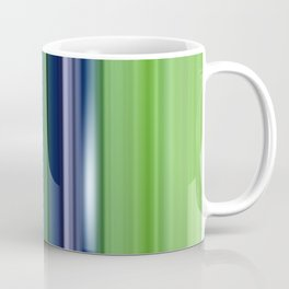 blue green striped pattern Coffee Mug