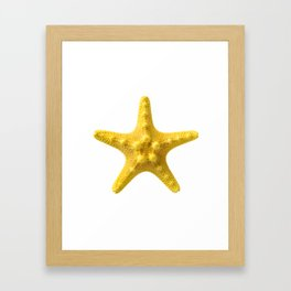 Yellow starfish Framed Art Print