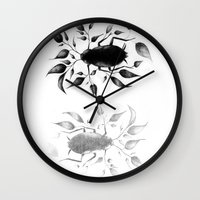 bugs Wall Clocks featuring bugs by David Cristobal