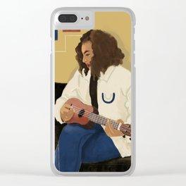 Playing Ukulele Clear iPhone Case