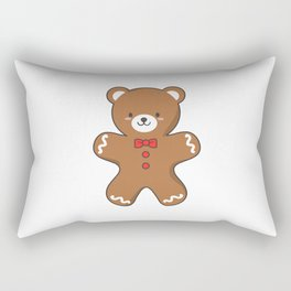 Ginger-Bear Cookie Rectangular Pillow