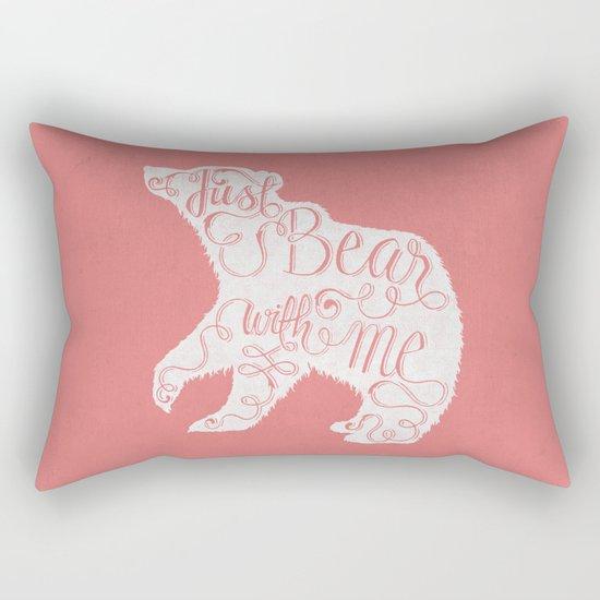 BEAR WITH ME - PINK Rectangular Pillow