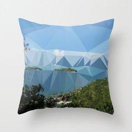 The Color of Travel : Bora Bora Throw Pillow