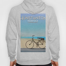 Hunstanton Norfolk travel poster. Hoody