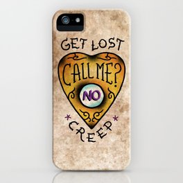 Get Lost! iPhone Case