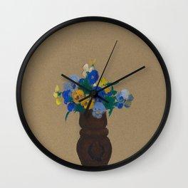 Odilon Redon - Pansies Wall Clock