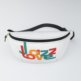 Love Jazz (on a white background) Fanny Pack