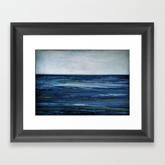 abstract seascape Framed Art Print