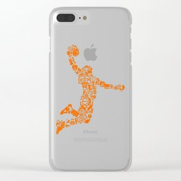 Basketball Art Dunk Clear iPhone Case