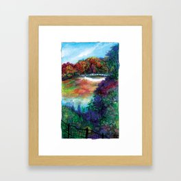Bow Bridge of Central Park, NYC Framed Art Print