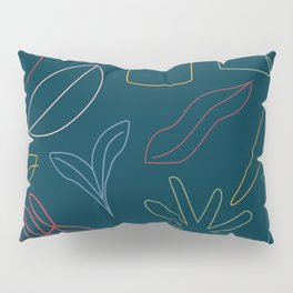 The Kitchen Cabinet -  Fruit Line Drawings Pillow Sham