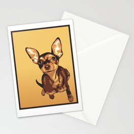 Billie the Miniature Pincher Puppy Stationery Cards
