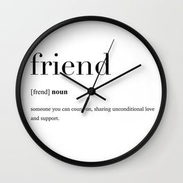 Friend definition Wall Clock