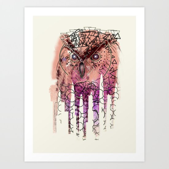 Wowlzers. Art Print