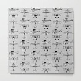 Biplanes // Silver Metal Print