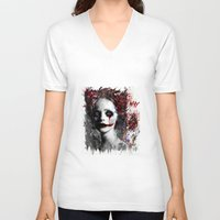 harley V-neck T-shirts featuring Harley Quinn by ururuty