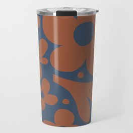Abstraction_Floral_Pattern_Art_Minimalism_001 Travel Mug
