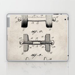 Weight Lifting Patent - Dumb Bell Art - Antique Laptop & iPad Skin