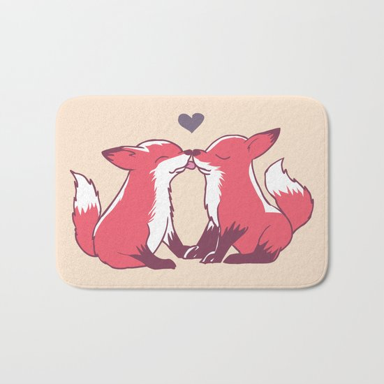 Fox Kisses Bath Mat