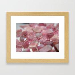 pink tourmaline dreams Framed Art Print