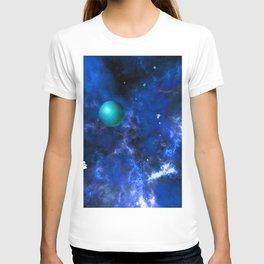 Hegemony in ultramarine blue T-shirt