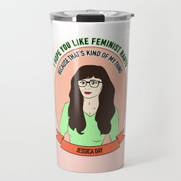 Jessica Day / New Girl Print Travel Mug