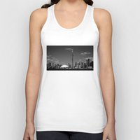 skyline Tank Tops featuring Toronto Skyline by Christophe Chiozzi
