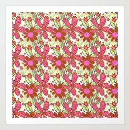 Floral Blast Art Print
