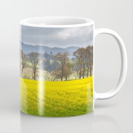 Yellow Fields Along The Eel River Coffee Mug