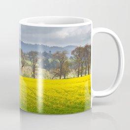 Yellow Fields Along The Eel River Coffee Mug