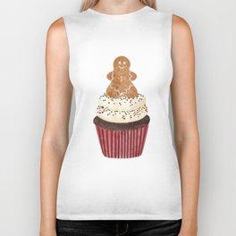 Gingerbread man Cupcake Biker Tank